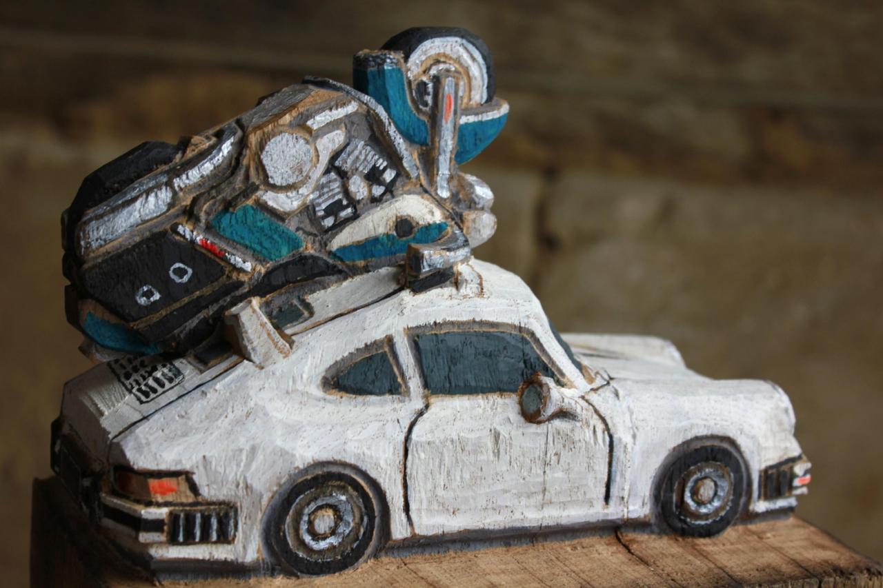 Porsche mit Harley