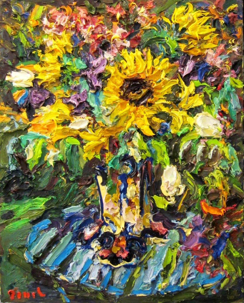 Sonnenblumen im Garten