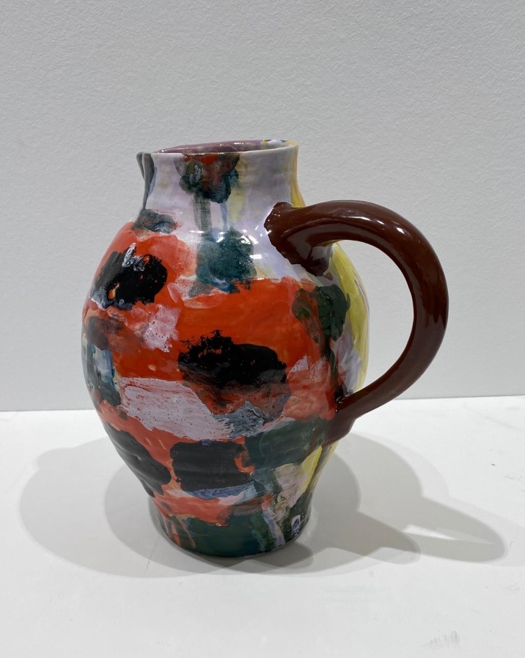 Keramik-Krug Mohn rot/mauve