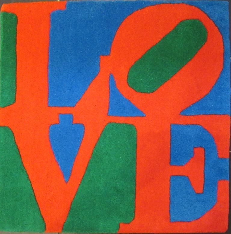 Love, blau-rot