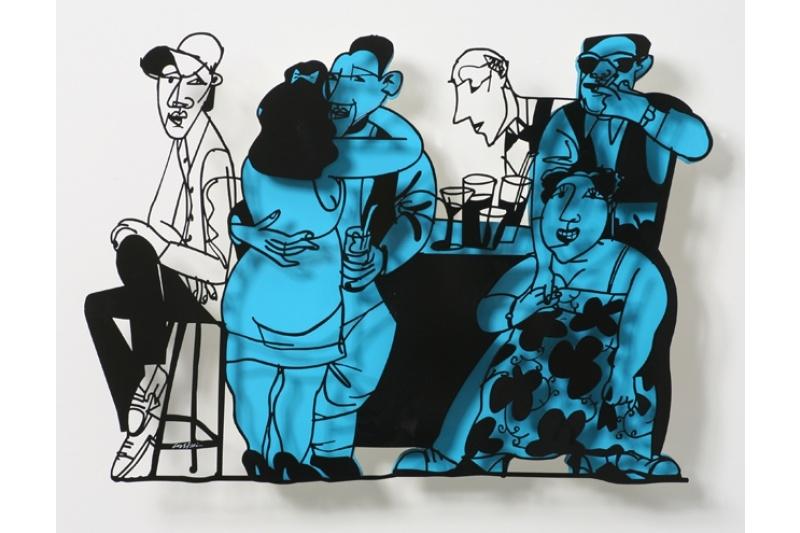 Bar Series - Bar Scene (blue)