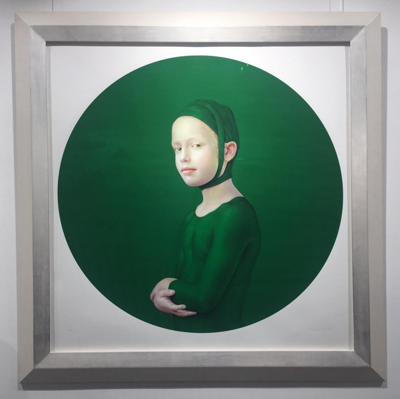Roses June Stillness (grün), 2018, gerahmt