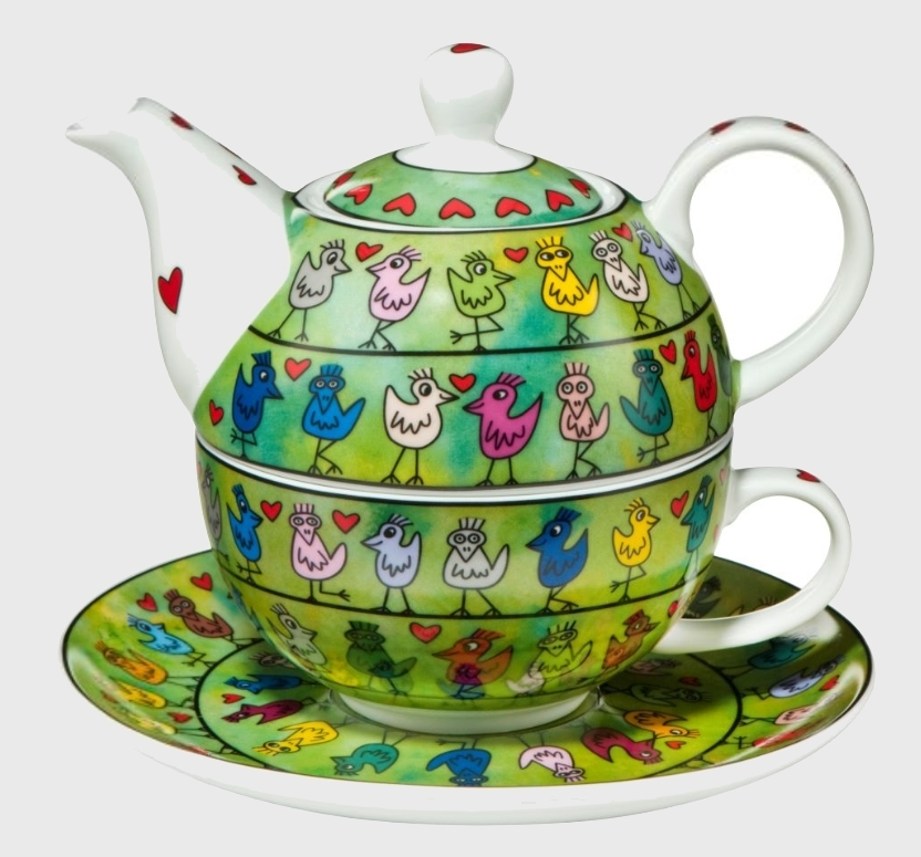 Tea for One: Birds on a Love Wire