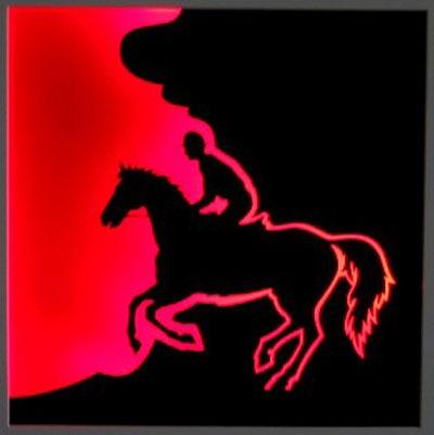 Feuriger Reiter (mit Beleuchtung)