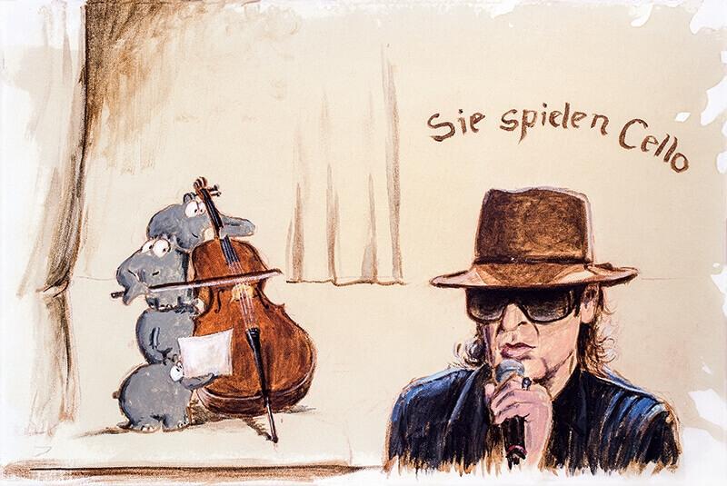 Sie spielen Cello