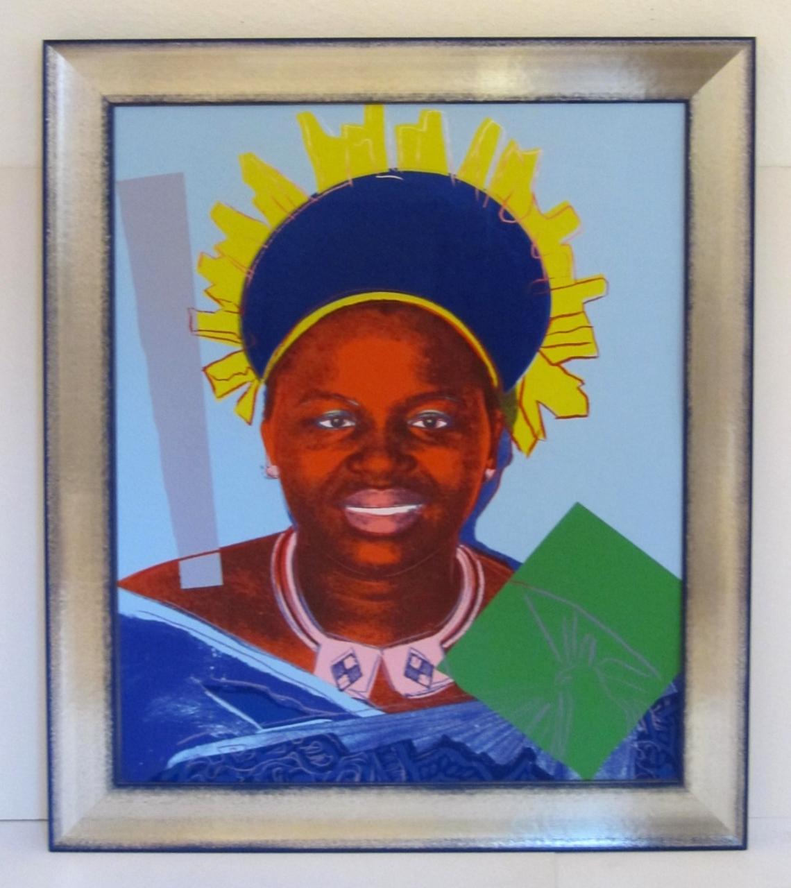Queen Ntombi Twala of Swaziland, blau